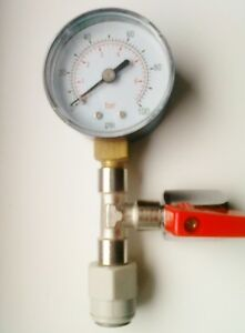 BEER GAS PRESSURE TESTING VALVE Mixed gas or Co2 Home Bar Beer Tap Cooler