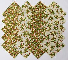 """24 5"""" AUTUMN LEAVES Fabric Quilt Squares Quilting Oak Leaf Fall Novelty Material"""