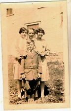 Old Vintage Antique Photograph Family Great Outfits Little Boy Wearing Knickers