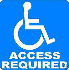 DISABLED PARKING ACCESS REQUIRED SIGN/NOTICE