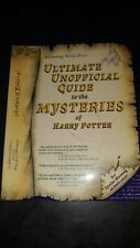 Uncorrected Proof Ultimate Unofficial Guide Mysteries Of Harry Potter, Signed