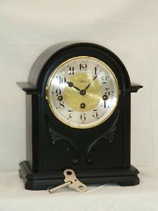 Serviced Hermle 8 Day German Westminster Bracket Mantle Mantel Chime Clock