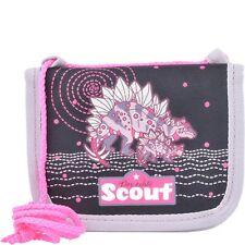 Scout Brustbeutel III Geldbörse Portemonnaie Kinder 12 cm (pink dino)