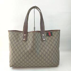 Gucci Tote Bag GG Browns PVC 1717493