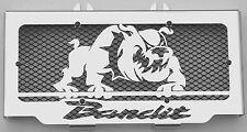 """cache / Grille de radiateur 600 GSF ou 650 GSF Bandit """"Bulldog"""" + grilllage noir"""