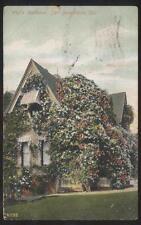 Postcard SAN BERNADINO California/CA  Well's Family 2 Story House/Home view 1907