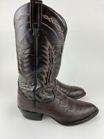 Made in USA Tony Lama #6703 Boots Women's 9 B Leather Western COWBOY Bull hide