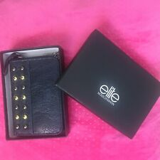 Elite faux leather Navy Embellished Zip purse Bnwt Boxed Vegan