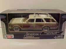 1979 Chrysler LeBaron Town Station Wagon Die-cast Car 1:24 Motormax 8 inch Cream