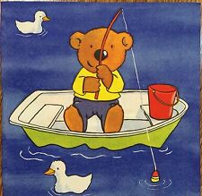 2 single paper napkins decoupage collection Serwetki Fisherman Duck Boat Bears