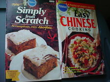 PILLSBURY EASY CHINESE & SIMPLY FROM SCRATCH COOKBOOKS LOT OF 2 FREE USA SHIP