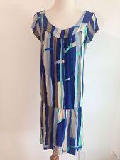 Vertigo Paris Casual Dress Blues, Beige, Aqua, White Size S
