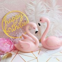 Pink Flamingo Cake Toppers Decoration Birthday Adults Children Wedding Party 1Pc