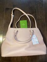 New Authentic Kate Spade Evangelie Larchmont Avenue Satchel Handbag Light Pink