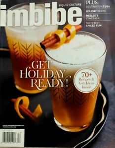 Imbibe Liquid Culture ~#64 Nov/Dec '16 ~ Dest-Cuba, Beer's, Merlot's, Spiced Rum