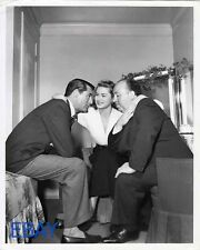 Cary Grant Ingrid Bergman Alfred Hitchcock Notorious VINTAGE Photo candid on set