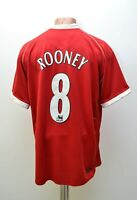 MANCHESTER UNITED 2006/2007 HOME FOOTBALL SHIRT #8 ROONEY NIKE SIZE L ADULT