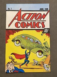 ACTION COMICS #1 1ST app SUPERMAN RARE 10 CENT 54TH ANNIV REPRINT 1938-1992 VF