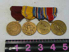 Four  U.S. Medals Service And Ribbons