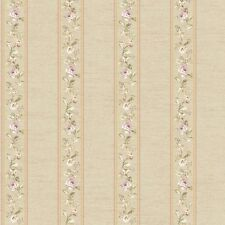 TRADITIONAL FD8463 Floral Stripe Wallpaper 33 foot roll FREE SHIPPING