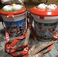 Tokyo Disney Resort Christmas Fantsy 2008 & 2009 Popcorn Bucket Xmas JAPAN