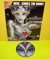 Machine Bride Of PINBOT Original Promo Plastic Coaster & Flyer Williams Game