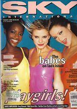 SKY INTERNATIONAL MAGAZINE MARCH 1995 KIARA, KAREN FERRARI, AND CAROLYN MURPHY