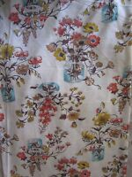 Vintage 70s Wild Flowers in Glass Jars Cotton Quilting Fabric Material Crafts