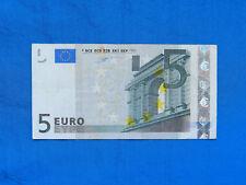 2002 Germany 5 Euro Banknote *P-1u*    *Duisenberg Sig*     *VF*