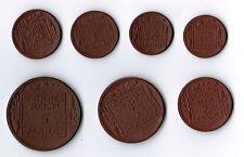 Probensatz 10 Pfennig - 5 Mark 1920 Kaiserreich / Proben  Porzellanwährung prfr.