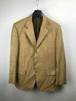 Cantarelli Mens Brown Check Three Button Blazer Sport Coat Jacket 42 52 Luxury