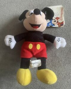 """Mickey Disneyland Paris Year 2000 Disney 8"""" Mouse Soft Toy Bean Bag with Tag"""