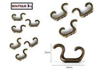 Lot de 10 Crochet Double en Fonte Porte serviette Patère  Bronze Ancien + Vis