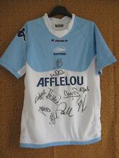 Maillot rugby Aviron Bayonnais Kappa Vintage Bayonne Afflelou Signé Dédicacé - M