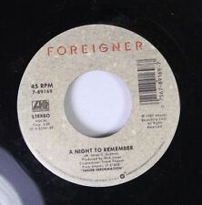Rock 45 Foreigner - A Night To Remember / Say You Will On Atlantic