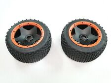 NEW KING MOTOR Wheels +Tires Rear ORANGE Ring DIRT BUSTER (HPI BAJA 5B 5SC GB44O