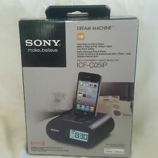 NEW Sony ICF-CO5IP Dream Machine Clock Radio Alarm  WITH iPhone/iPod Adapter
