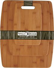 Totally Bamboo 3-Piece Cutting Board Set Prep Chop Serve Eco-Friendly 20-7920