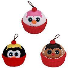 Ty Beanie Babies Sundae Christmas Ornaments Coco Gelato Flakes - New w/Tags!