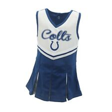 Indianapolis Colts Nfl Toddler & Youth Girls Cheerleader Outfit with Bottoms New