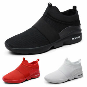 Men's Trainers High Top Sports Shoes Athletic Shoes Slip on Mesh Tennis Sneakers