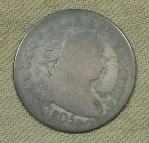 1805 Draped Bust United States 25¢ Quarter AG About Good