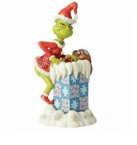 ENESCO SALE  Jim Shore - The Grinch Christmas The Grinch Climbing In Chimney New