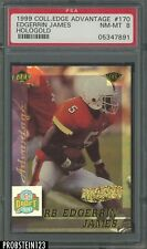 1999 Collector's Edge Advantage Hologold #170 Edgerrin James RC 15/20 PSA 8