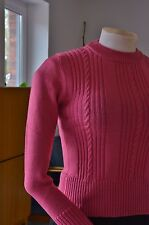 Pull tricot pull framboise sweater 70s true vintage 70er nos non porté OVP