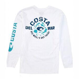 Save 25% Costa Del Mar Aquatica Long Sleeve T-shirt- Pick Size/Color-Free Ship