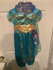 NIP Disney Princess Jasmine From Aladdin Live Action Costume Child Sz S 4-6 Teal