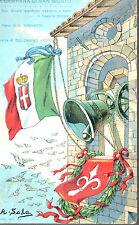 WW1 CARTOLINA A. SALA CAMPANA DI SAN GIUSTO VIAGGIATA 1916 CARATE LARIO