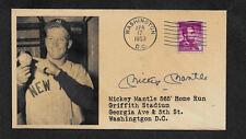 Mickey Mantle 565' Homer Collector's Envelope Original Period 1953 Stamp OP1125
