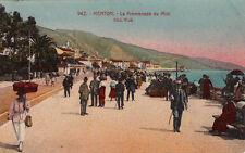 MENTON 942 la promenade du midi timbre italien 1925